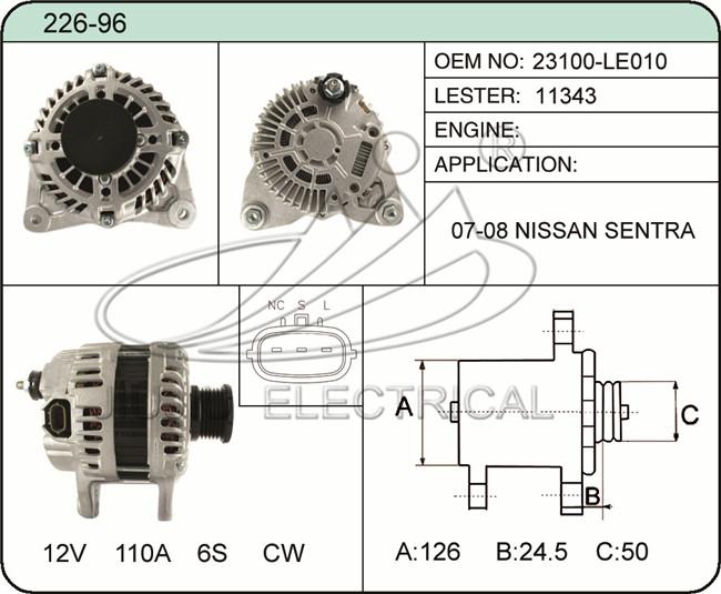 HeBei JiuJiu Mechanical Electrical Co.,Ltd. starter alternator on